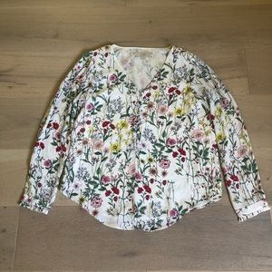 Worn once! Loft size small floral blouse.